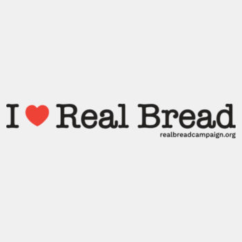 I ❤ Real Bread - Womens White Organic T-Shirt Design