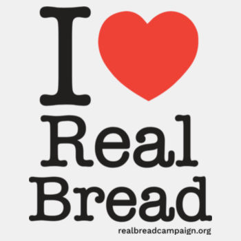 I ❤ Real Bread - Stacked Design - Womens White Organic T-Shirt Design