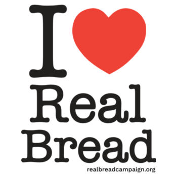 I ❤ Real Bread - Stacked Design - Apron Design