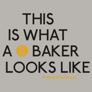 This Is What A Baker Looks Like - Womens Grey Organic T-Shirt Design